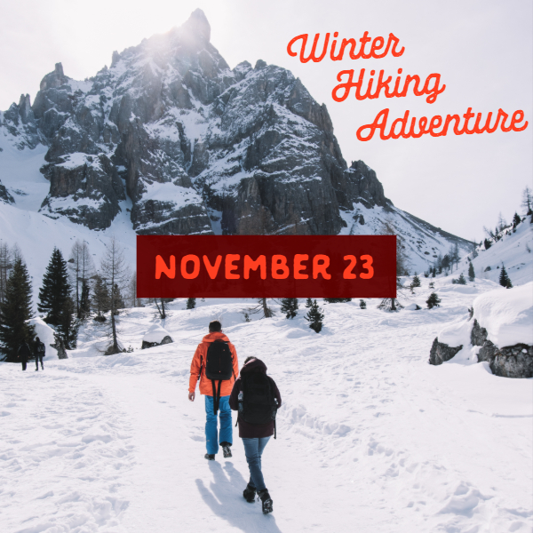 Winter Mountain Hiking Adventure