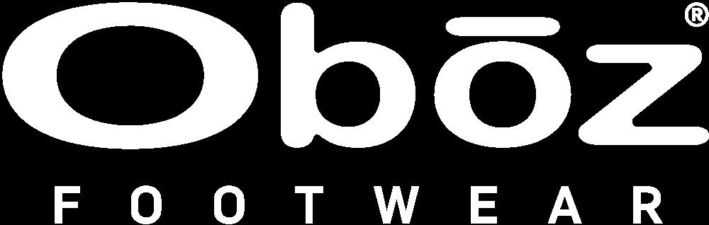 Oboz Logo in white.