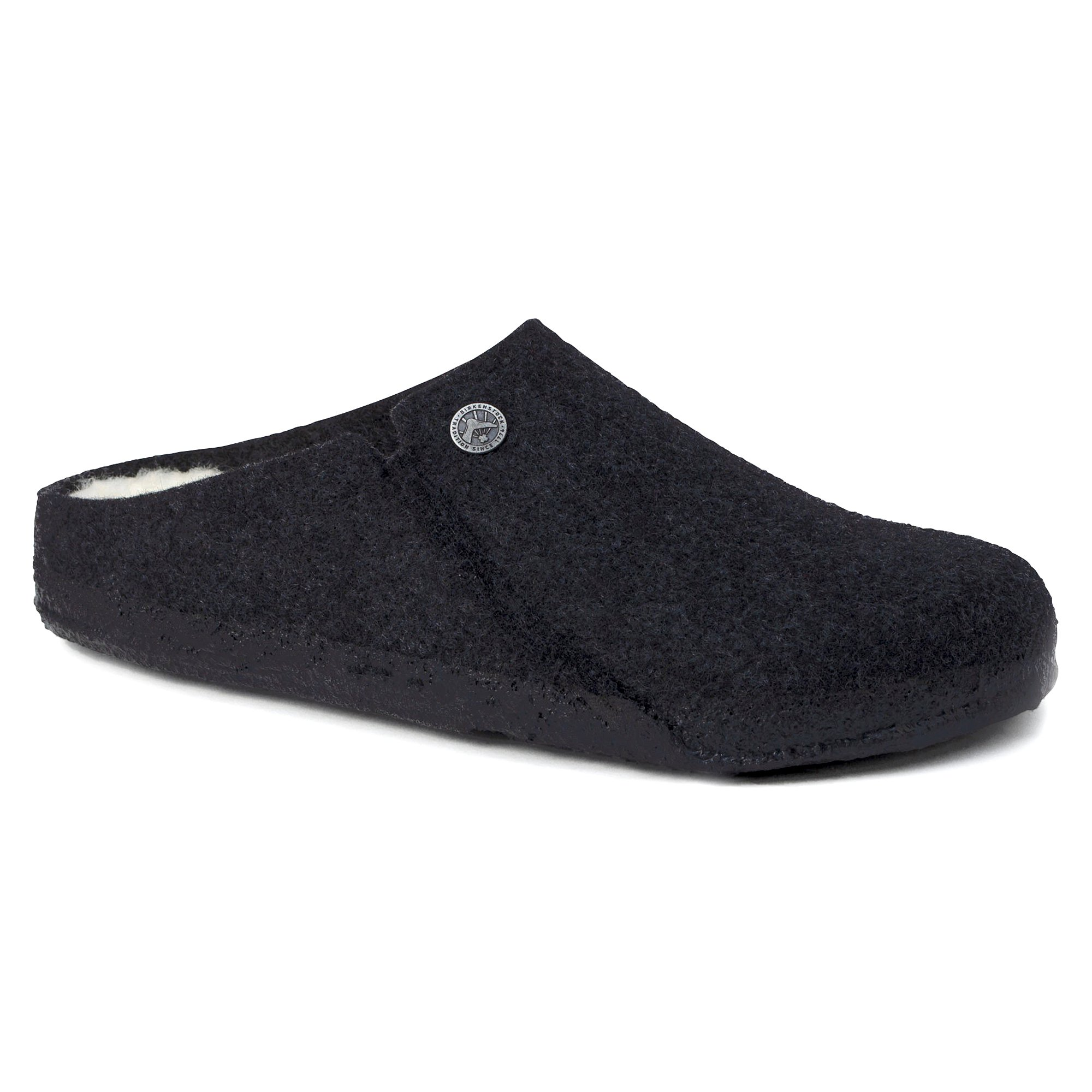 Zermatt Wool Felt Slipper Anthracite