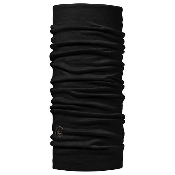 BLACK LIGHTWEIGHT MERINO BUFF