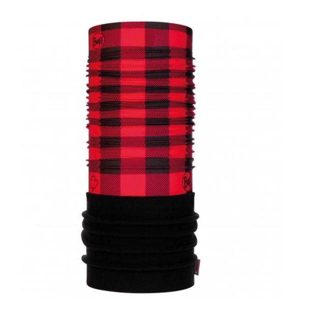 Red Plaid Polar Buff