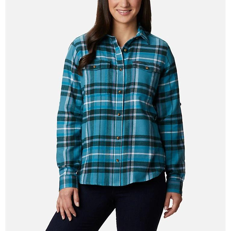 Pine Street Stretch Flannel Shirt - Women's