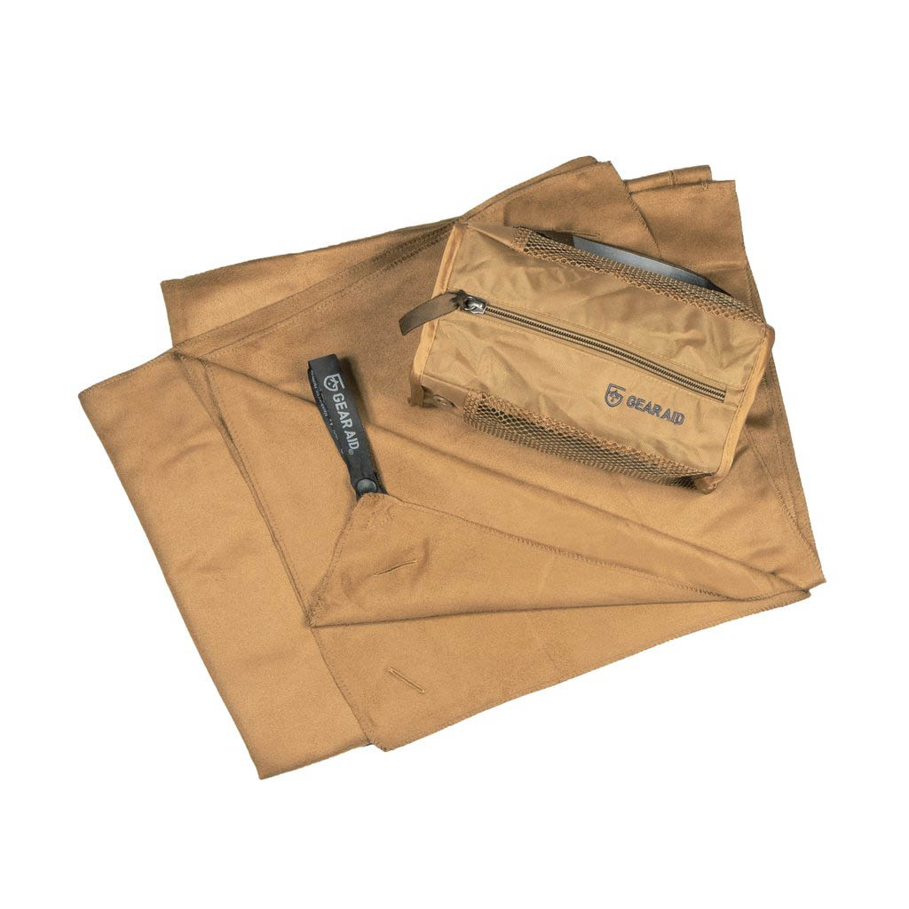 Ultra Compact Microfiber Towel Large Coyote