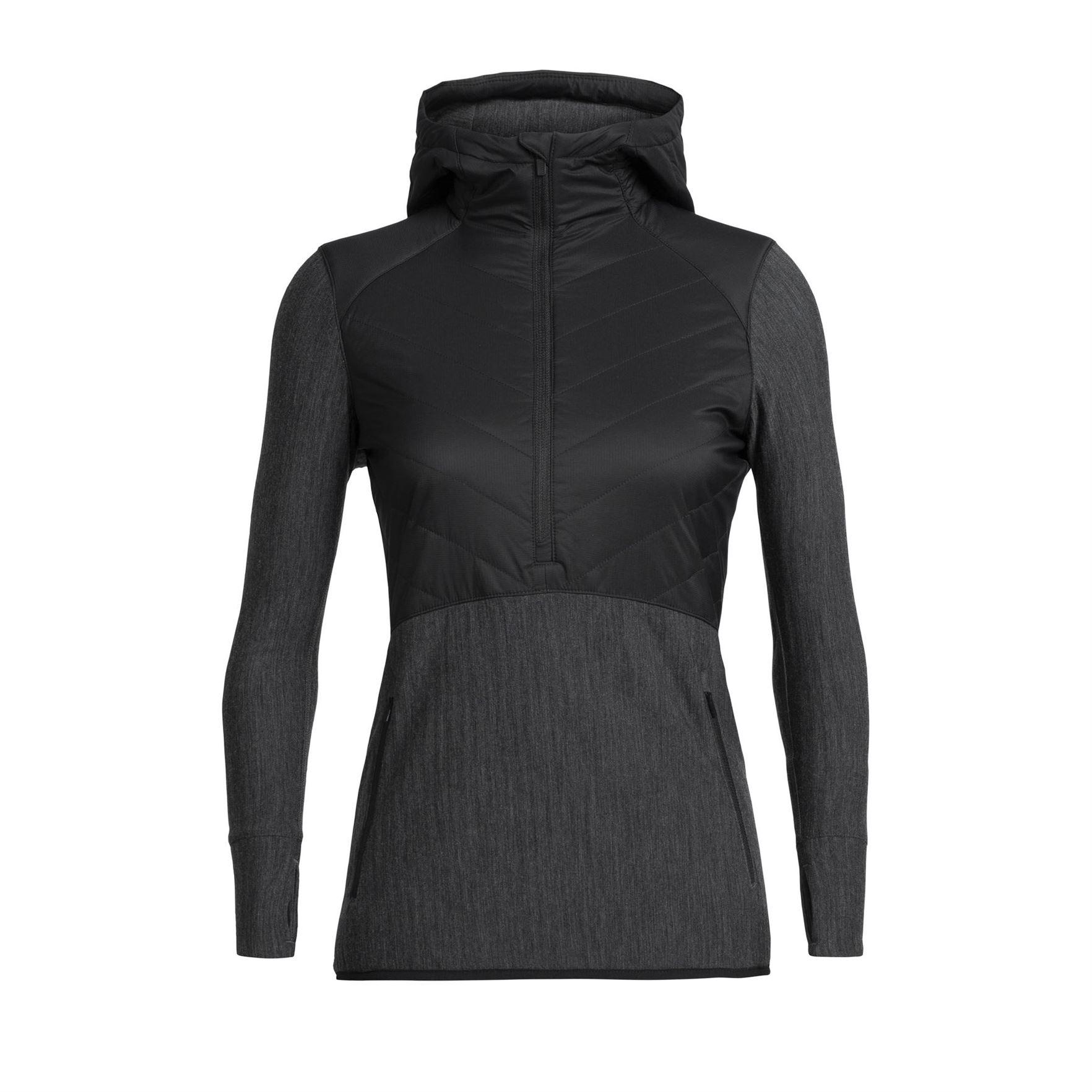 Descender Hybrid Half Zip Hood Long Sleeve - Women's