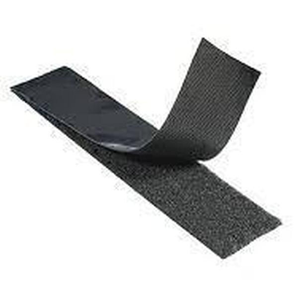1 in Black Pressure Sensitive Loop Velcro
