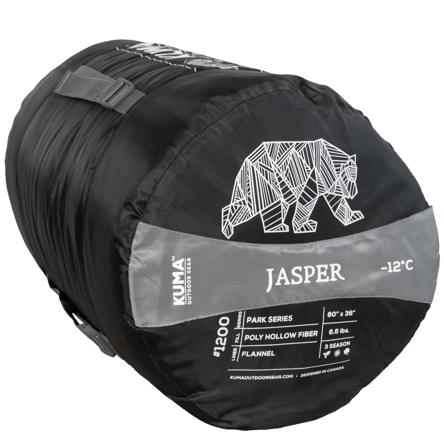 Jasper -12 Sleeping Bag Black Red