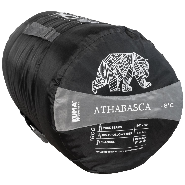 Athabasca -8 Sleeping Bag Black Red