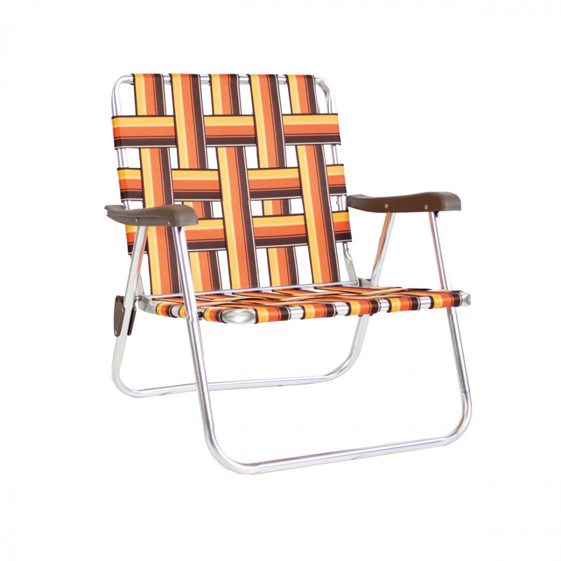 Kelso Backtrack Low Chair Orange/Brown