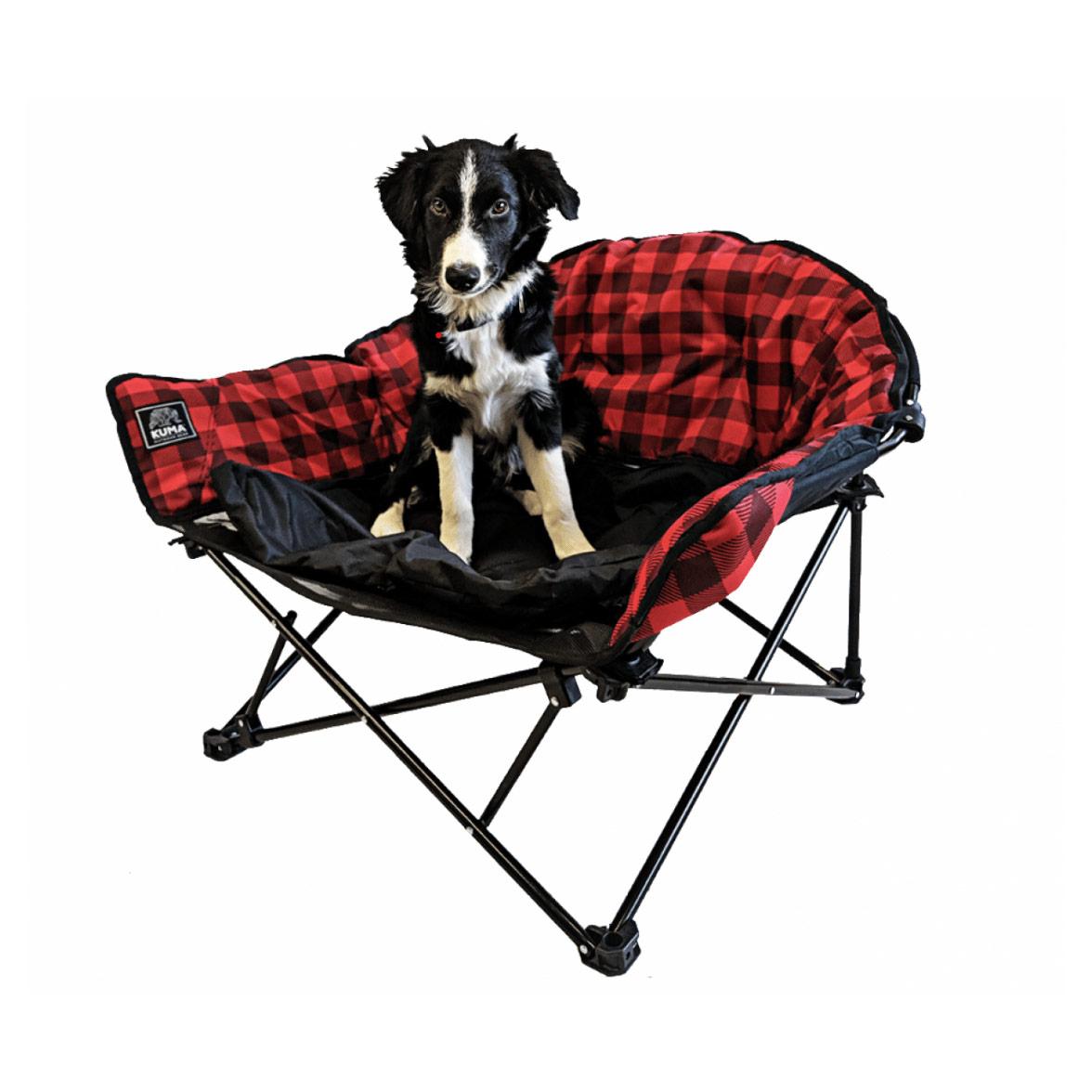 LAZY BEAR DOG BED RED/BLACK PL
