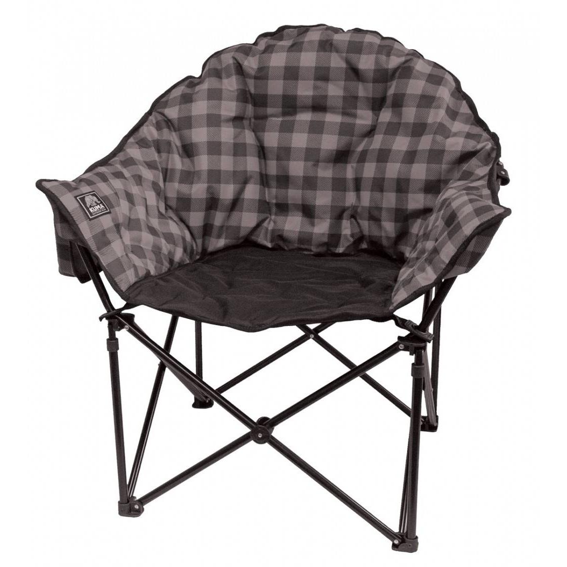 Lazy Bear Chair Grey Plaid
