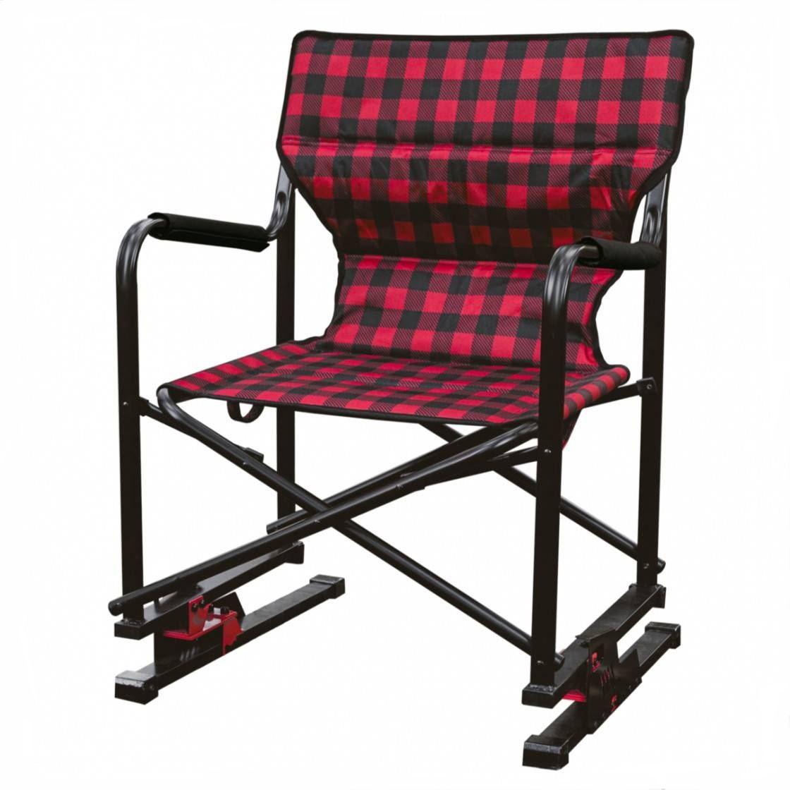 Spring Bear Chair Red Plaid