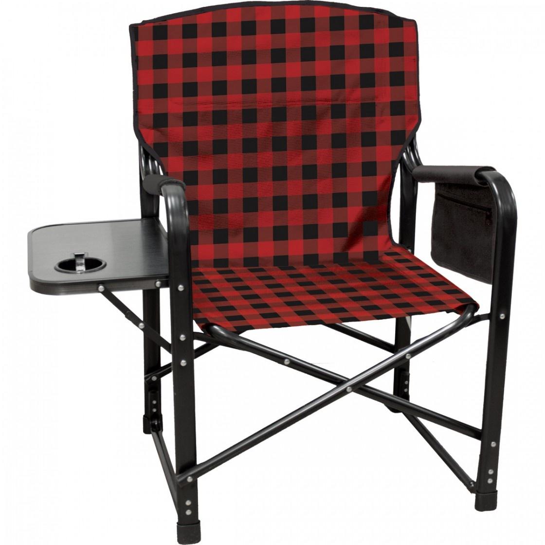 Bear Paws Chair Red Plaid