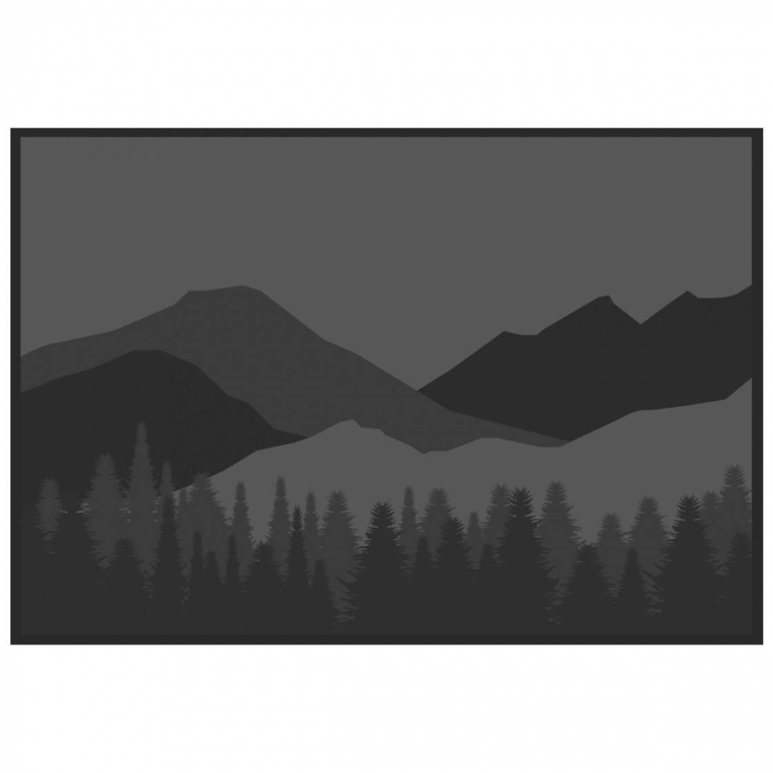 Outdoor Mat Mountain Wilderness 12 ft