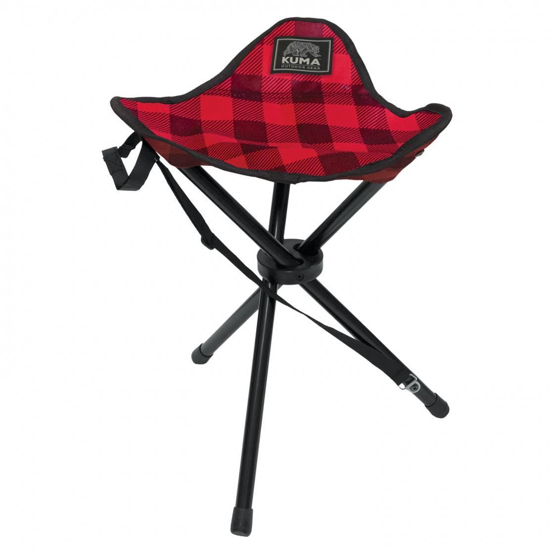 Tri Pod Chair Red/Black Plaid
