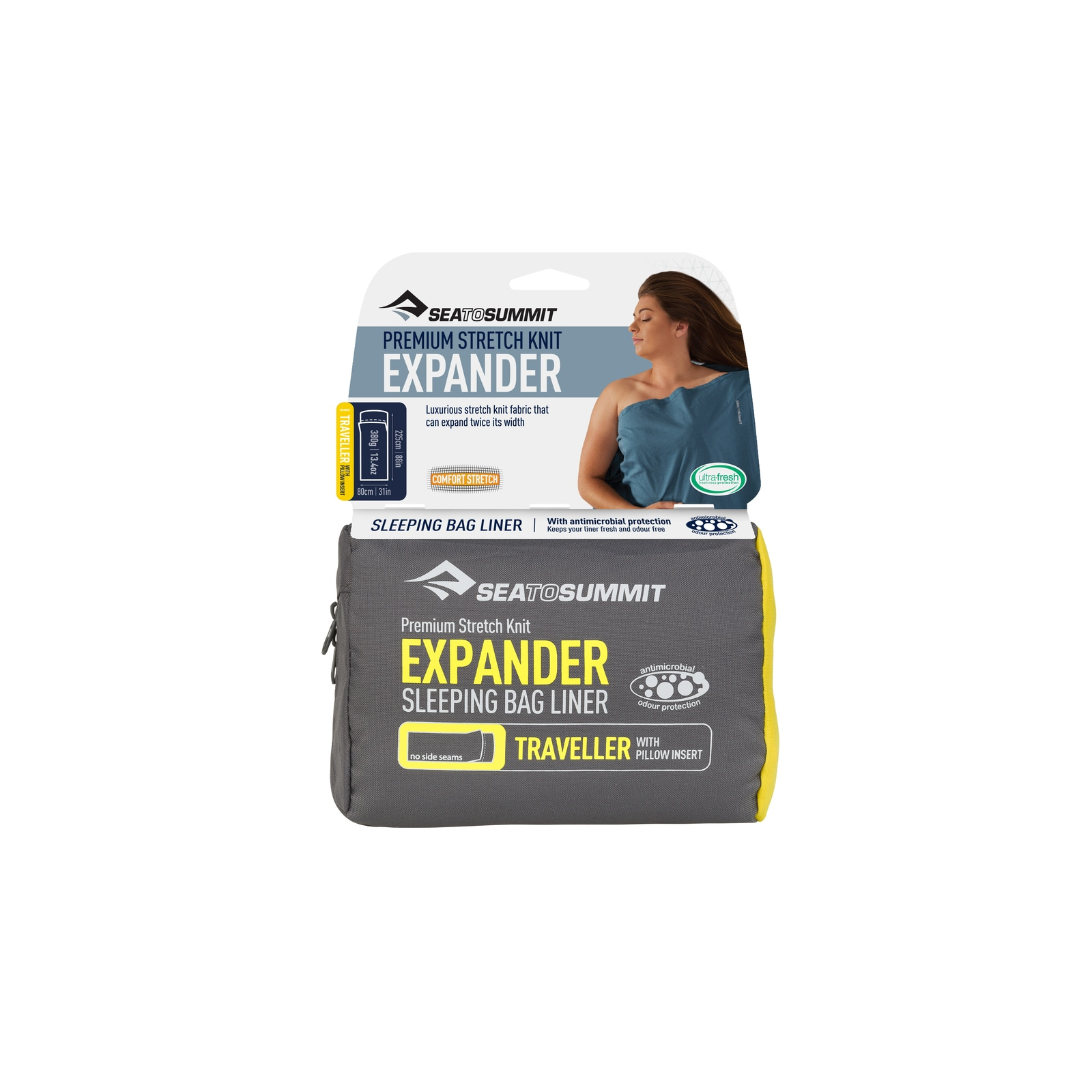 Cotton Travel Liner with Pillow Sleeve