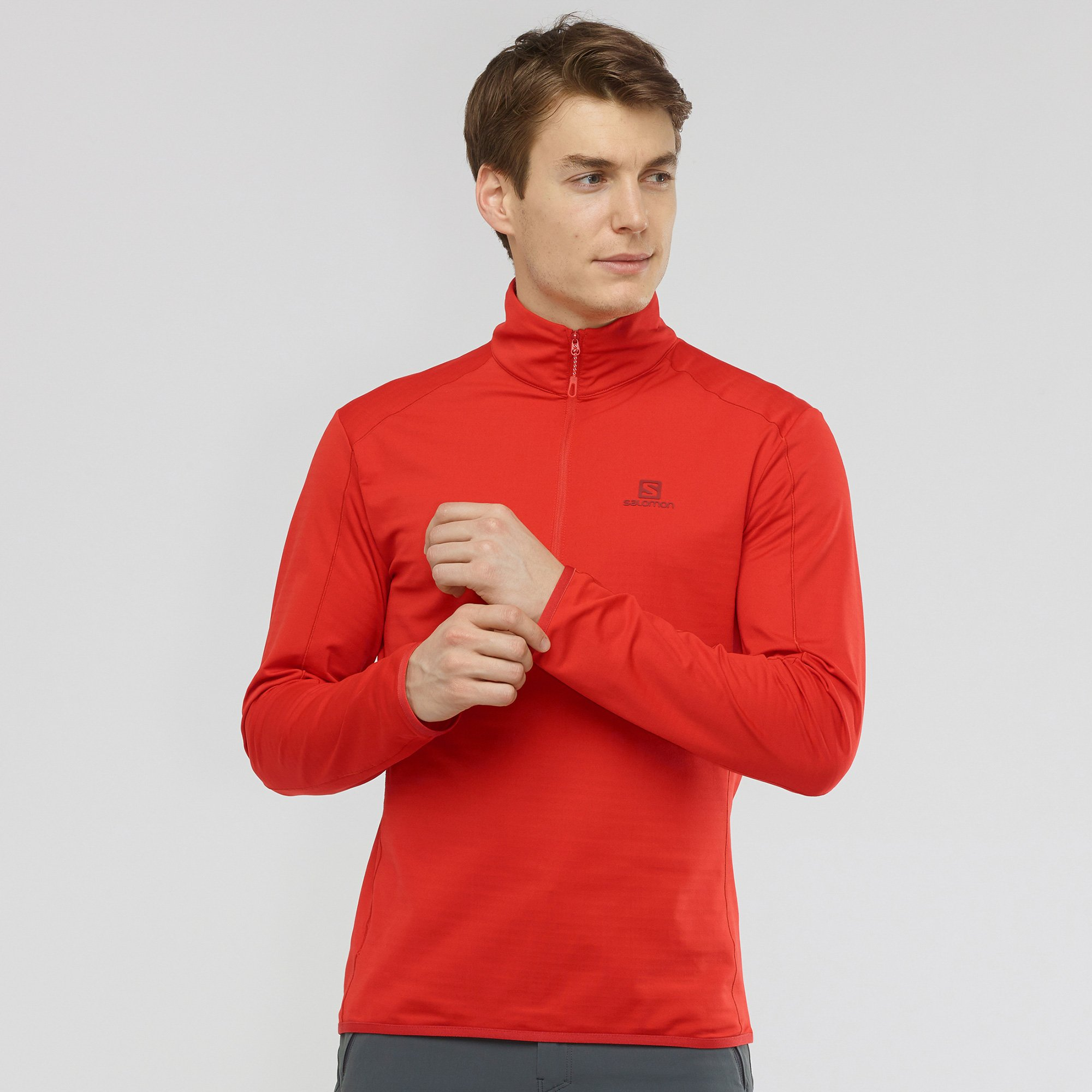 Outrack Half Zip Midlayer Goji Berry - Men's