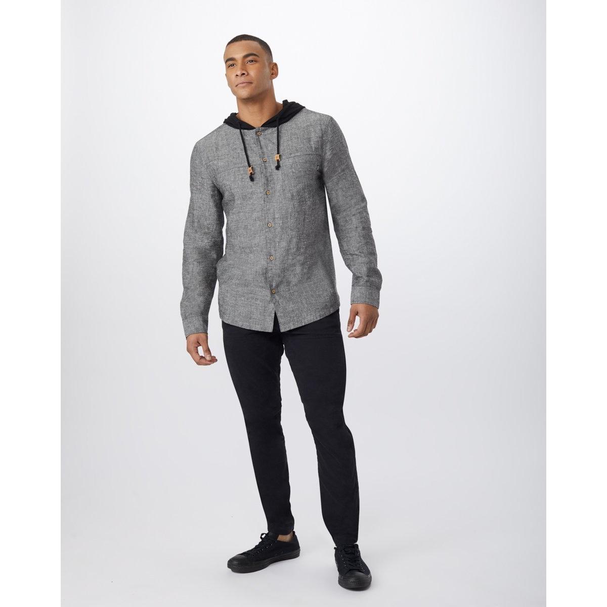 Mancos Button Up Long Sleeve Hoodie - Men's