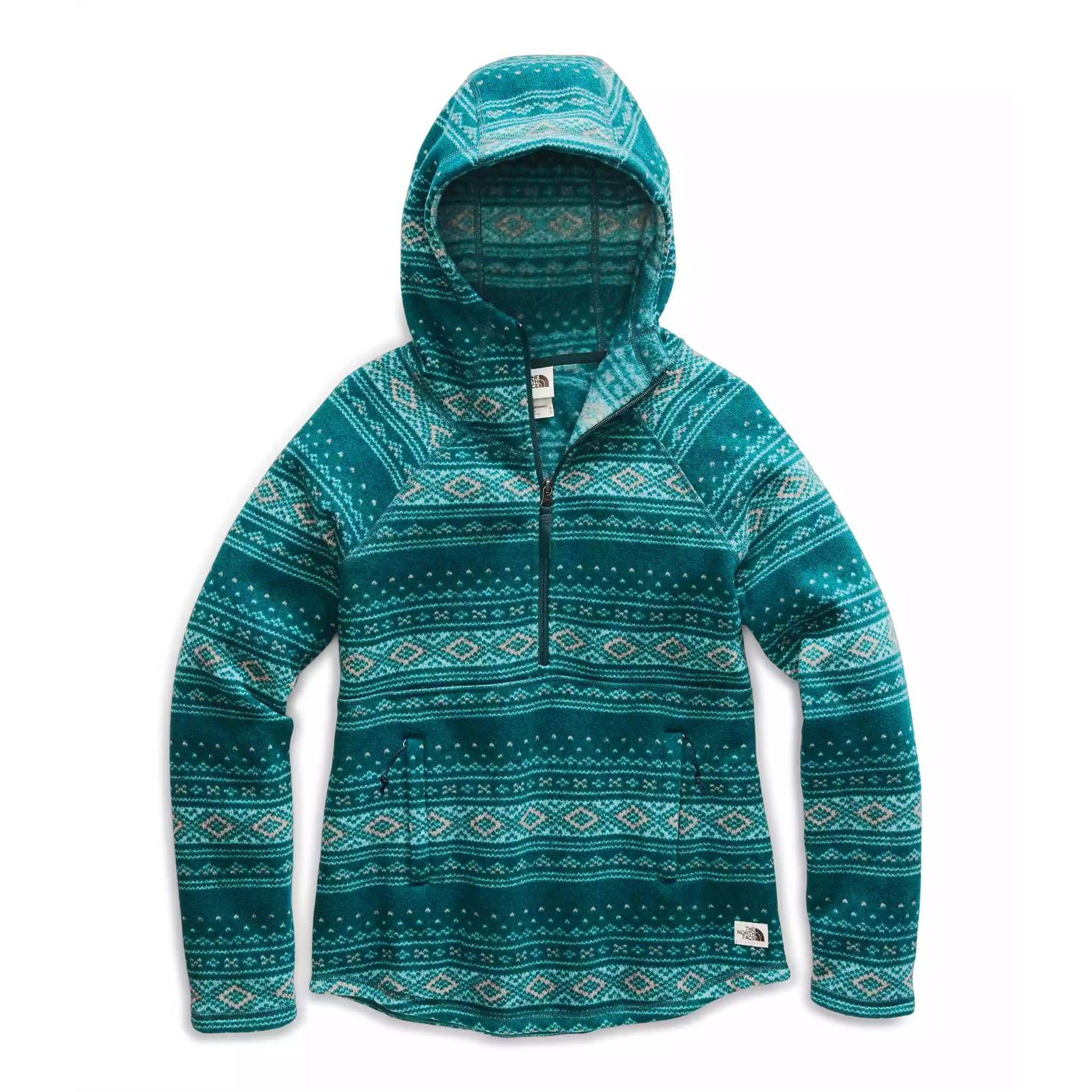 Printed Crescent Hooded Pullover - Women's