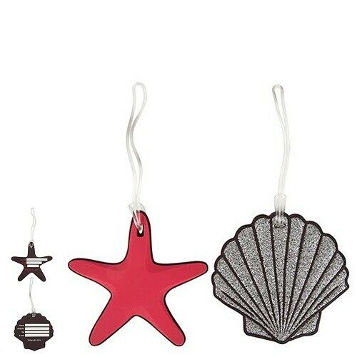 Seashell Luggage Tags 2 Pk