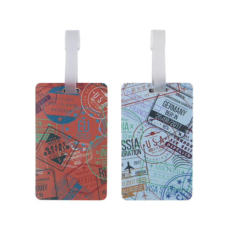 Passport Stamps Luggage Tags 2 Pk