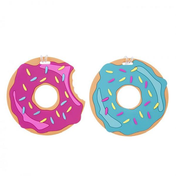 Doughnut Luggage Tags 2 Pk